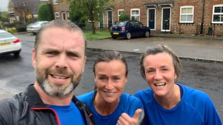 Runners took part in the Virtual Herts 10K and Half Marathon: Kerry Morgans and family.