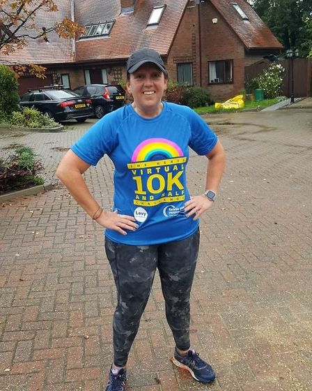 Runners took part in the Virtual Herts 10K and Half Marathon: Rebecca Lonsdale