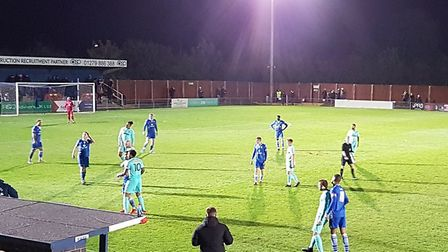 Royston Town travelled to Bishop's Stortford in the third qualifying round of the FA Cup.