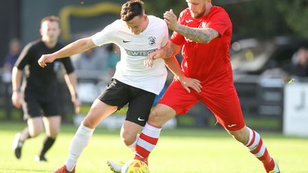 Brandon Adams was on target for Royston Town in their draw at Tamworth. Picture: KARYN HADDON