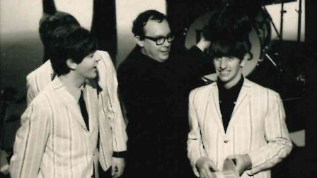 """The Beatles on The Morecambe and Wise Show, taken on December 2 1963 by Herts Ad photographer Tony """"Greg"""" Gregory."""
