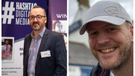 Former Comet editor Darren Isted and graphic designer Dave Walters are hoping to raise £620 for Letchworth's Garden House...