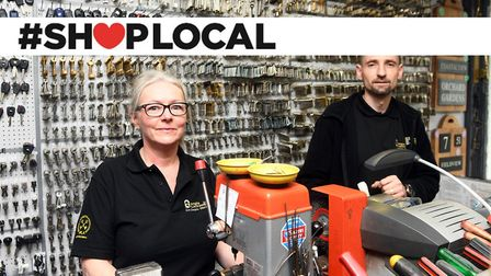 Shop Local feature Wisbech Anglia Locksmiths Rosie Cartwright (L) and Mario Sitek (R). Pictures: Ian Carter