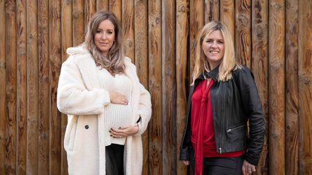 Left to right: Penny Joyner-Platt and Kate Gregory at Paradise Wildlife Park to launch Little Ankle Biters Hertfordshire. Pic...