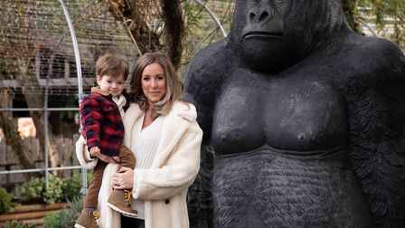 Penny Joyner-Platt and her son Freddie at Paradise Wildlife Park launching Little Ankle Biters Hertfordshire. Picture: Tigz Rice