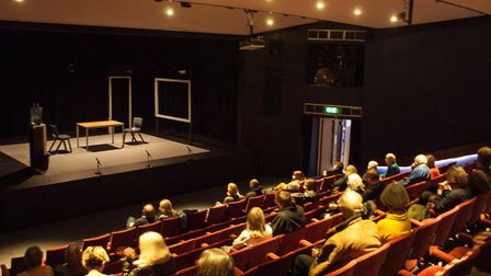 The Abbey Theatre auditorium adapted for socially distanced audiences with plenty of spaces between groups. Picture: Nick...