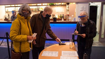 Bar orders being taken at the revamped Abbey Theatre. Picture: Nick Clarke
