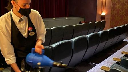 The Luxe in Wisbech has ranked among the top 10 independent cinemas in the UK. Anti-viral fogging being carried out by...