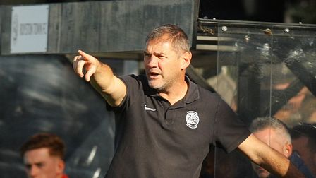 Royston Town manager Steve Castle was pleased with the effort against Stourbridge. Picture: KARYN HADDON