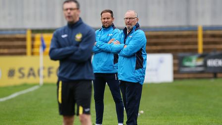Manager Ian Allinson and assistant Chris Winton have overseen a busy start to the new season for St Albans City. Picture...