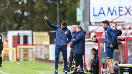 Stevenage manager Alex Revell felt they should have at least drawn against Newport County. Picture: DANNY LOO