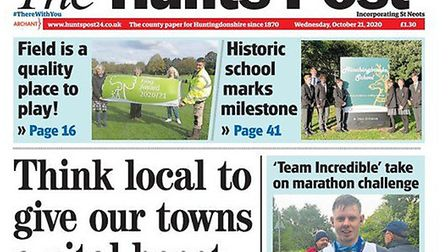 This week's Hunts Post continues the We Need To Talk campaign and launches Think Local.