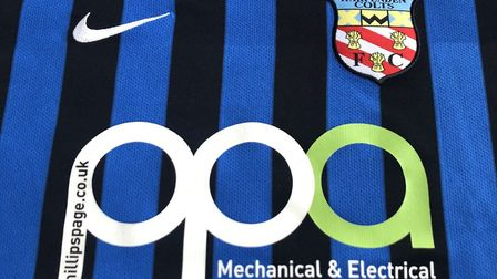 The Harpenden Colts shirt with the name of new sponsor PhillipsPage Associates on it.