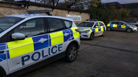 Police carried out a drugs warrant at an addres in St Neots High Street.