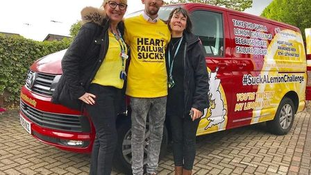 """Jamie at his 'Suck a Lemon"""" fundraiser for Pumping Marvellous. Picture: Supplied by Jamie's family"""