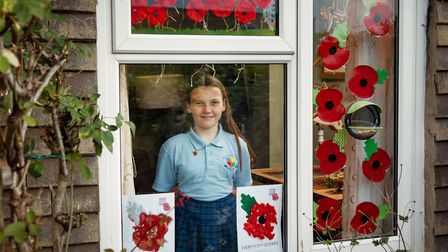 Huntingdon schoolgirl, Poppy Railton, 11, urges people to get behind this year's Poppy Appeal. Picture: BRITISH LEGION