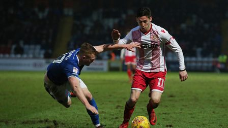 Tom Pett was a fan favourite during his first spell with Stevenage. Picture: DANNY LOO