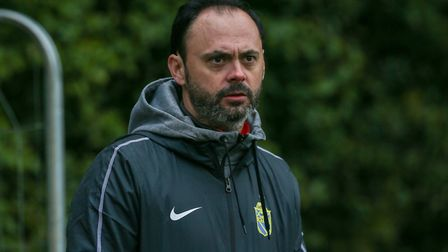 Harpenden Town manager Micky Nathan. Picture: DANNY LOO