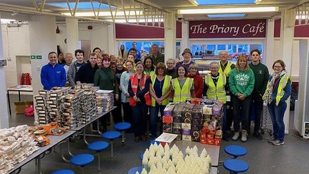 Hitchin Volunteer Army are preparing for this year's annual Christmas Hamper appeal. Picture: Lorna Hemmings