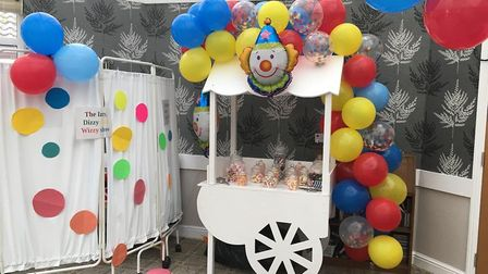 The home hired a popcorn machine and old-fashioned sweet cart for the event. Picture: Diane Fletcher