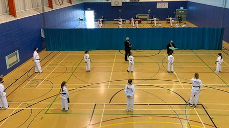 Students from the Mark Farnham Schools of Taekwondo, which runs classes in Wisbech, March and Ely, saw all students taking...