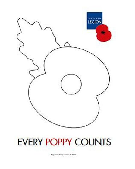 A poppy to colour. Picture: DUNMOW AND DISTRICT ROYAL BRITISH LEGION