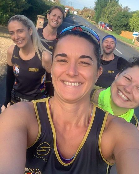Three Counties Running Club members were out in force for the virtual Fen10 race which started and finished at Marshland...