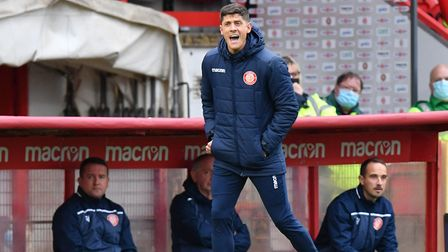 Stevenage manager Alex Revell wants to see his side bounce back in the FA Cup. Picture: DAVID LOVEDAY/TGS PHOTO