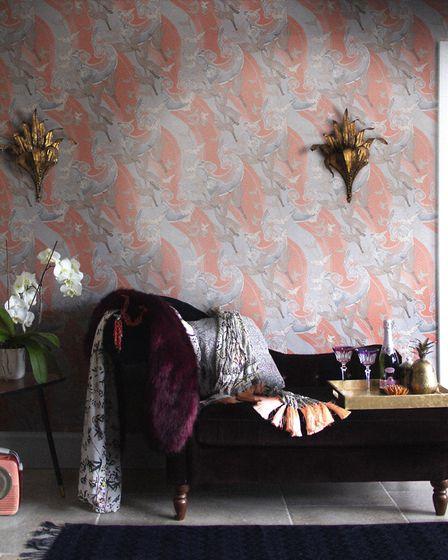 Laurence Llewelyn-Bowen: Play with pattern. Craney Day Wallpaper, from the Laurence Llewelyn-Bowen Signature Collection...