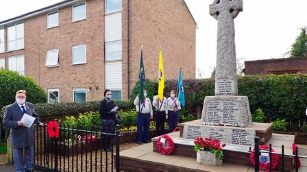 A Remembrance Sunday service was held in London Colney. Picture: John Andrews