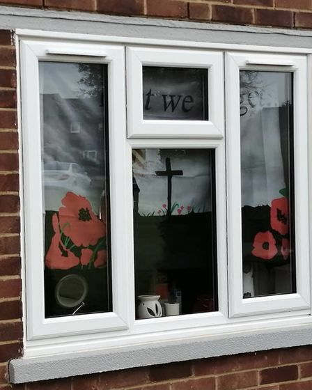 St Albans Rainbow Trail's Remembrance pictures. Sharon Linney