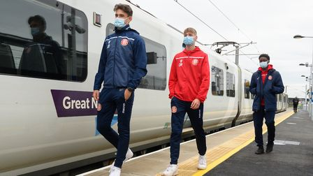 Stevenage FC's apprentices benefit from free travel passes from Govia Thameslink Railway. Picture: Peter Alvey