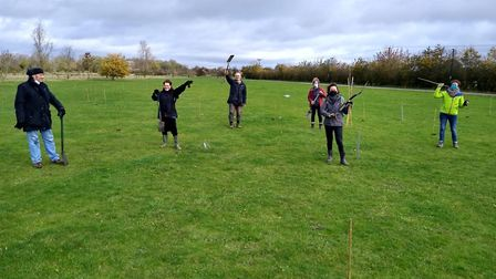 Hundreds of trees have been planted in St Neots as part of a woodland project.
