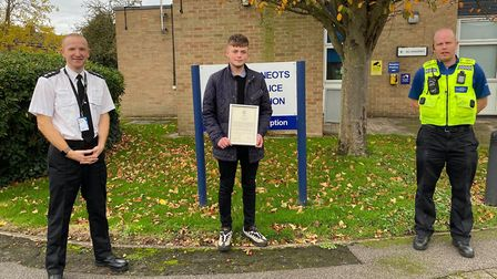 Army cadet Sean Best stepped in to help a vulnerable man from harming himself.