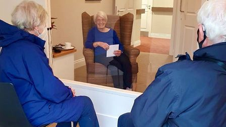 The new visiting room at Melbourn Springs care home in Royston.