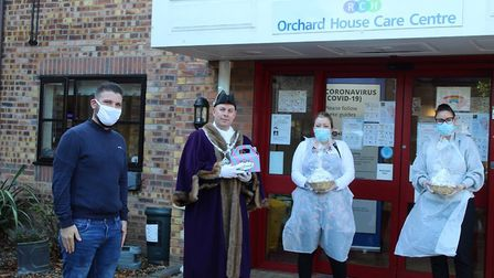 The Deputy Mayor, Cllr Andrew Lynn was joined by Woodward's Confection Shop, Nathaniel Woodward in Wisbech to deliver the...