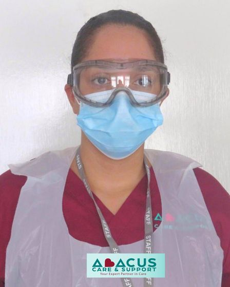 Abacus carers are regularly tested, fully Covid-19 trained and possess the necessary PPE. Picture: Abacus Care and Support