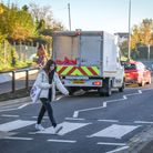 Pupil on the new Ashdon Road crossing. Photo: Supplied by R4U.