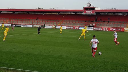 Stevenage hosted Concord Rangers in the FA Cup first round at the Lamex Stadium.