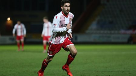 Tom Pett played a lot longer than planned on his Stevenage return. Picture: DANNY LOO
