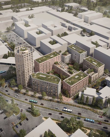 The Guinness Partnership has submitted its plans to build a new apartment block on the former Matalan site in Stevenage.