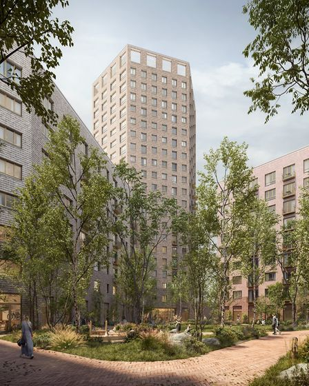 Plans for 526 new apartments on the former Matalan site in Stevenage include a twenty-storey tower. Picture: The Guinness...