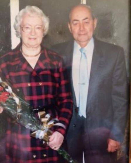 Kathleen and Donald together celebrating their golden wedding anniversary in 1997. Picture: FAMILY