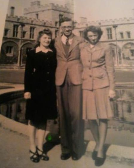 Kathleen is pictured on the right with her work friends in Oxford in around 1945. Picture: FAMILY