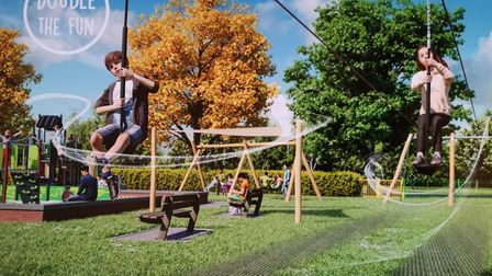 Designs for the new playpark at Clarence Park.