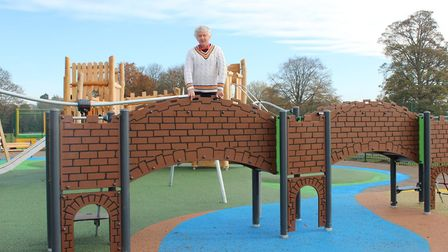 Cllr Anthony Rowlands at the new playground at Verulamium Park.