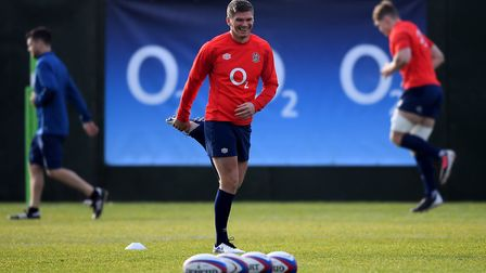 England''s Owen Farrell during the training session at The Lensbury Hotel, London. Picture: ALEX DAVIDSON/PA