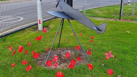 Technology students at the College of West Anglia in Wisbech created a Spitfire aircraft silhouette for Remembrance Day.