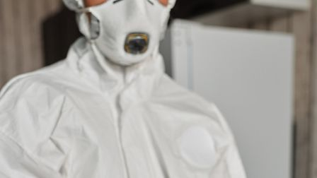 The UK government contracted Purple Surgical UK Ltd to procure disposable respirator masks, similar to the one pictured...