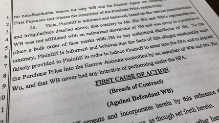 In legal papers, Purple Surgical UK Ltd alleges that its supplier, Win Billion Investment Group, provided 'false'...